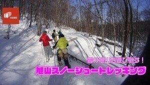 雪の旭山を遊び倒す!旭山スノーシュートレッキング