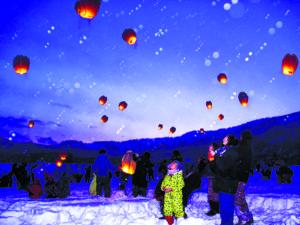 雪景色のランタンフェスティバル実行委員会